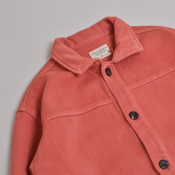 Nudie Jeans Elias Twill Overshirt - Dusty Red