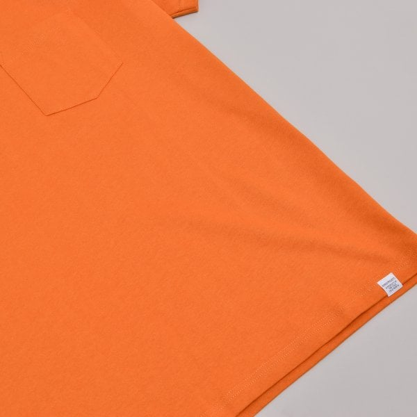 Norse Projects Johannes Pocket SS - Cadmium Orange