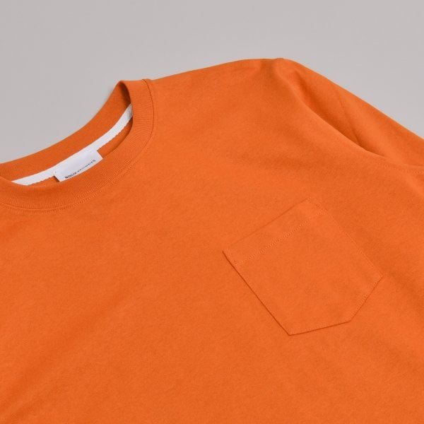 Norse Projects Johannes Pocket Long Sleeve - Cadmium Orange
