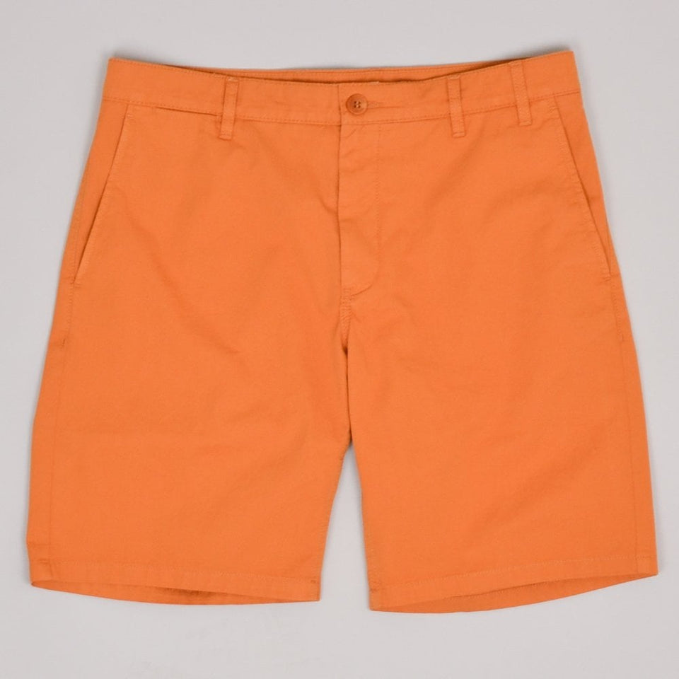 Norse Project Aros Light Twill Shorts - Cadmium Orange