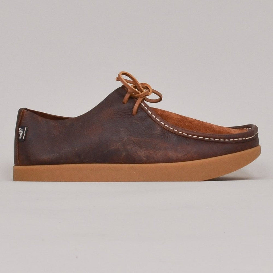 Yogi Willard Reverse Vamp Shoe - Mid Brown