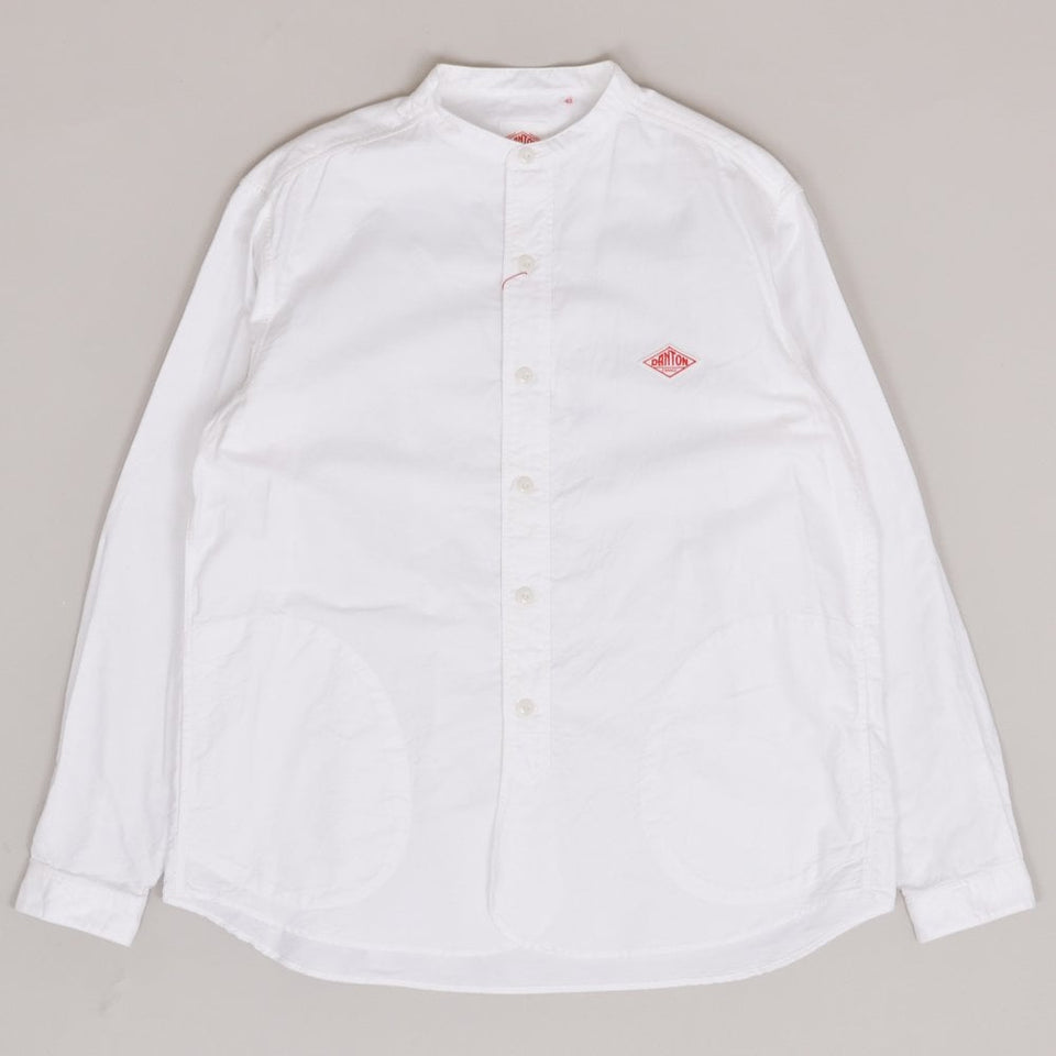 Danton Grandad Collar Shirt - White