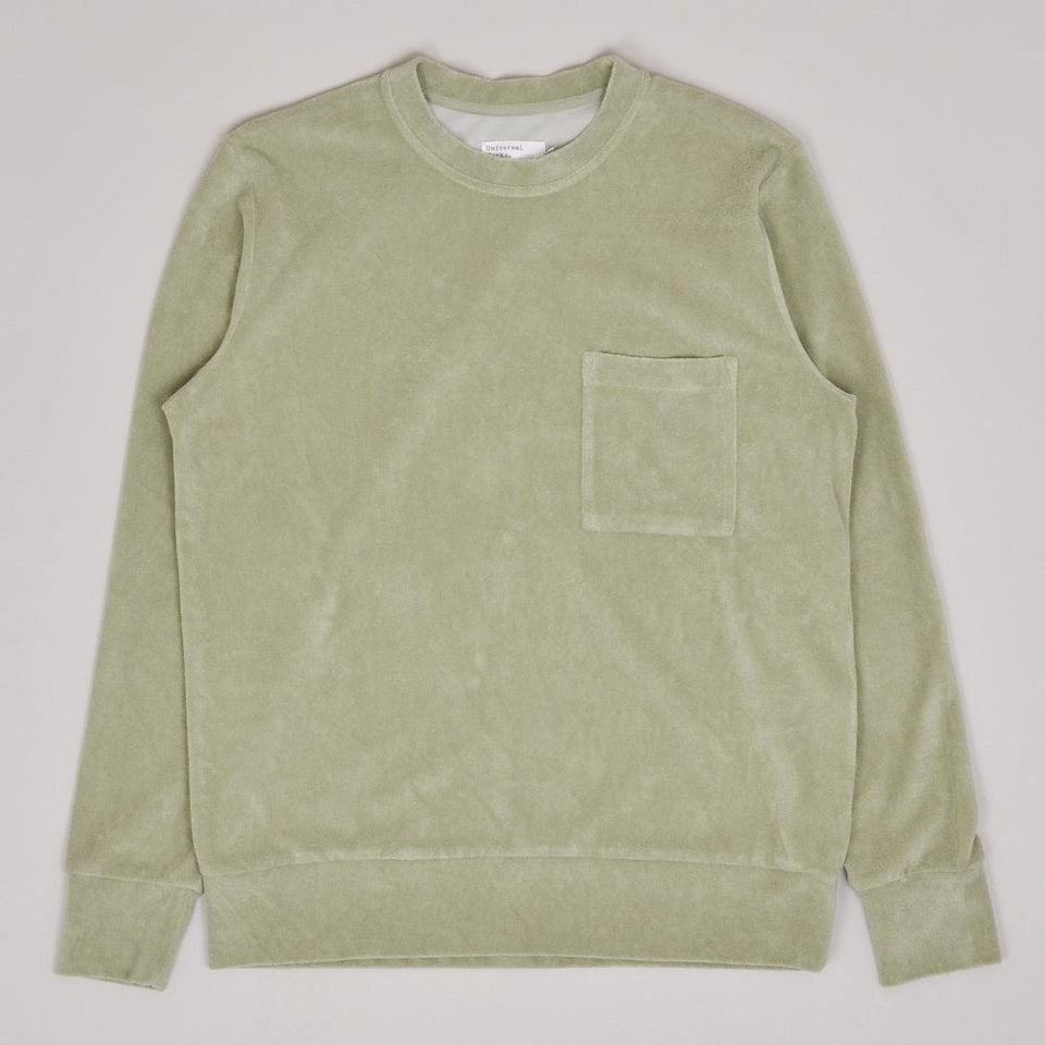 Universal Works Loose Pullover Terry Fleece - Tea