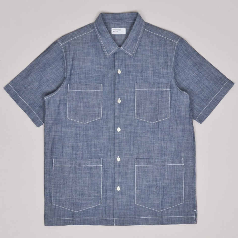 Universal Works Summer Overshirt Chambray - Indigo