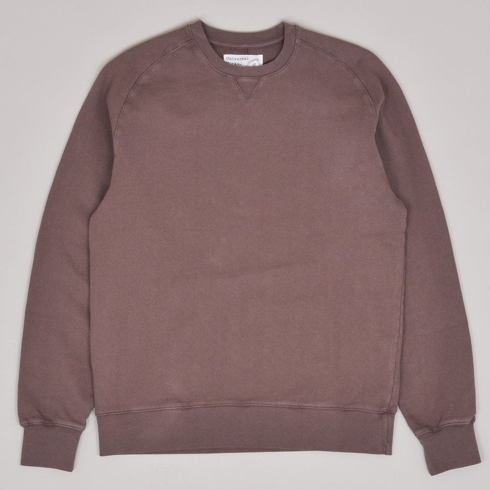 Universal Works Classic Crew Sweatshirt Loopback - Raisin