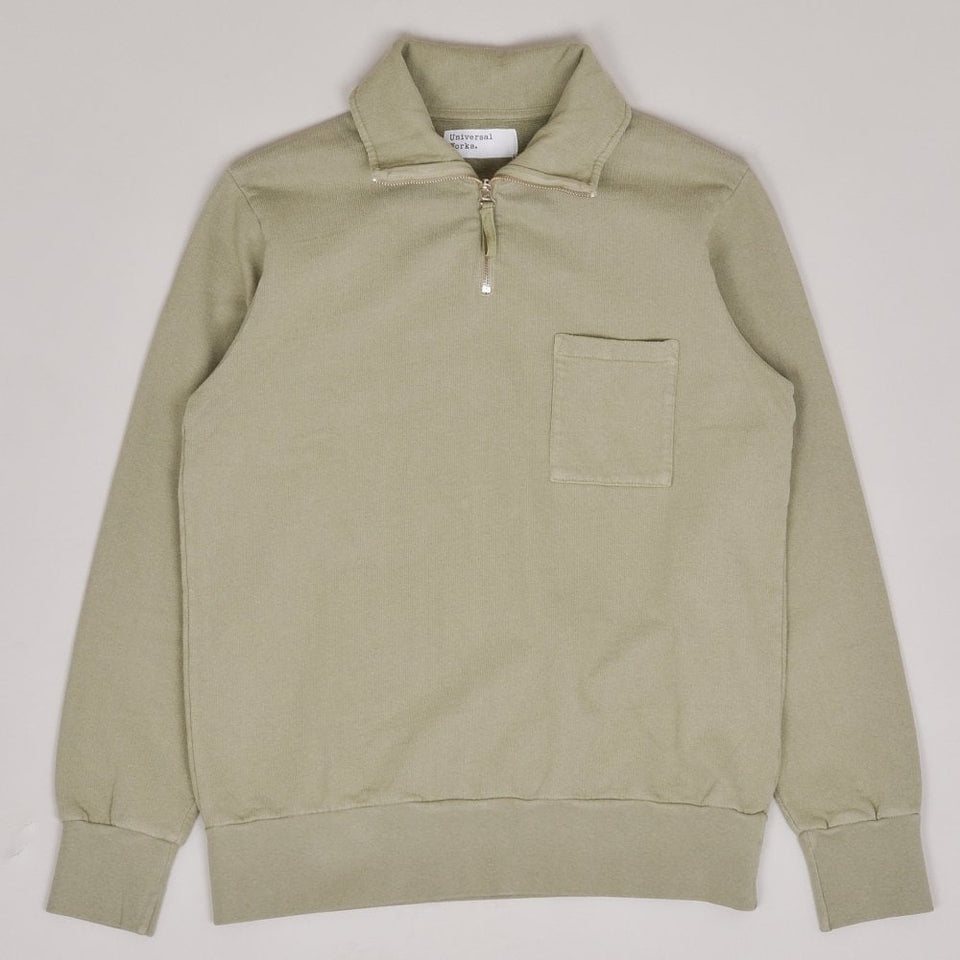 Universal Works Half Zip Sweatshirt - Laurel