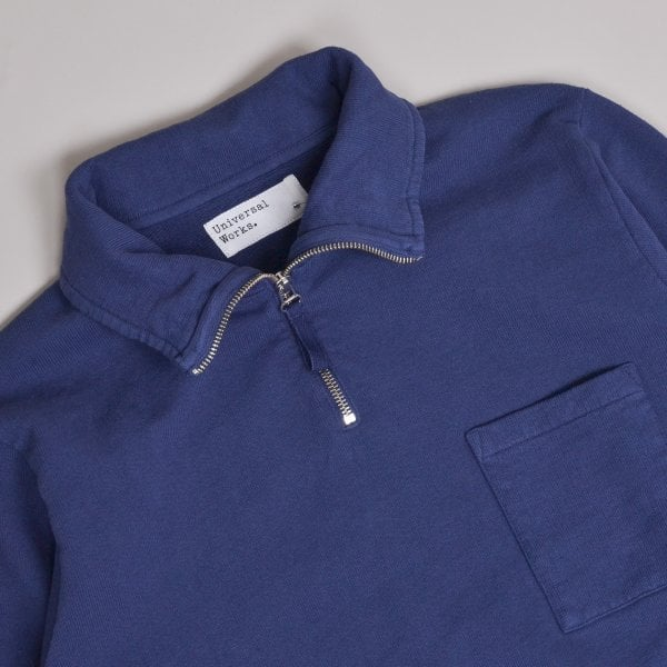 Universal Works Half Zip Sweatshirt - Navy