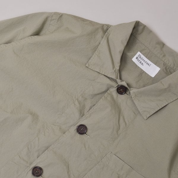 Universal Works Bakers Overshirt Poplin - Laurel