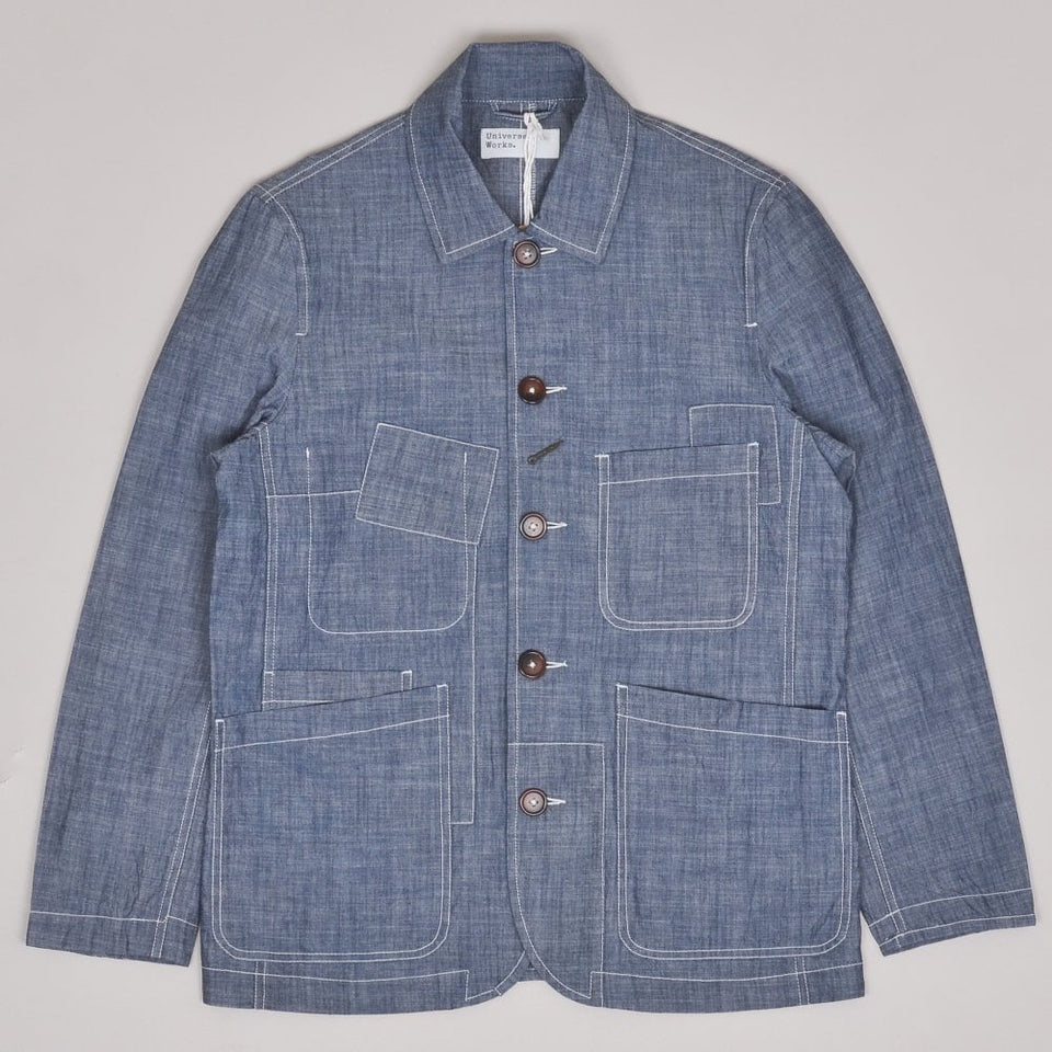Universal Works Patched Bakers Jacket - Indigo