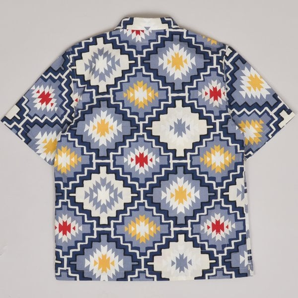 Universal Works Road Shirt Santa Fe Poplin - Navy