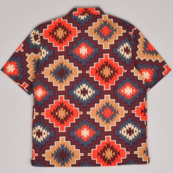 Universal Works Road Shirt Santa Fe Poplin - Brown