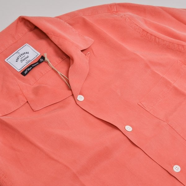 Portuguese Flannel Dogtown S/S Shirt - Pink