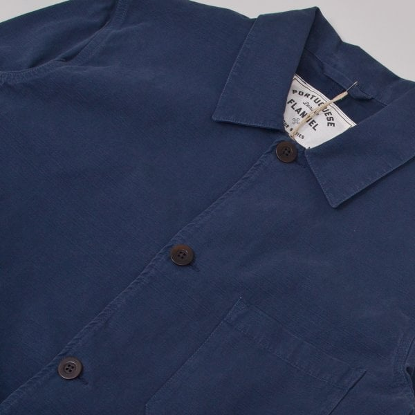 Portuguese Flannel Labura Ripstop Jacket - Navy