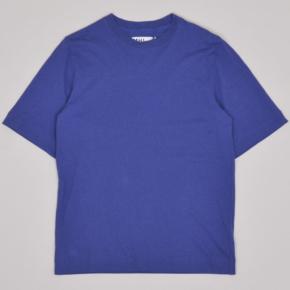 MHL Basic T-shirt Cotton Linen Jersey - Indigo