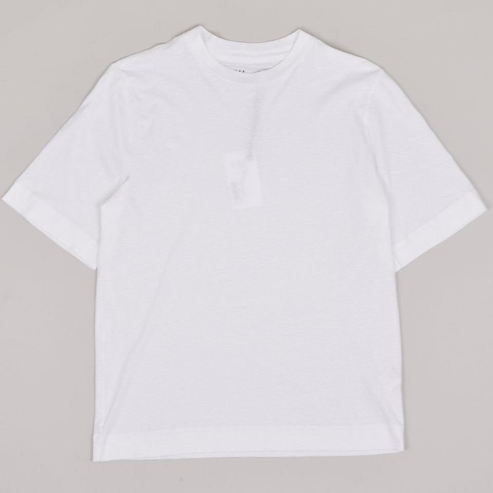 MHL Basic T-shirt Cotton Linen Jersey - White