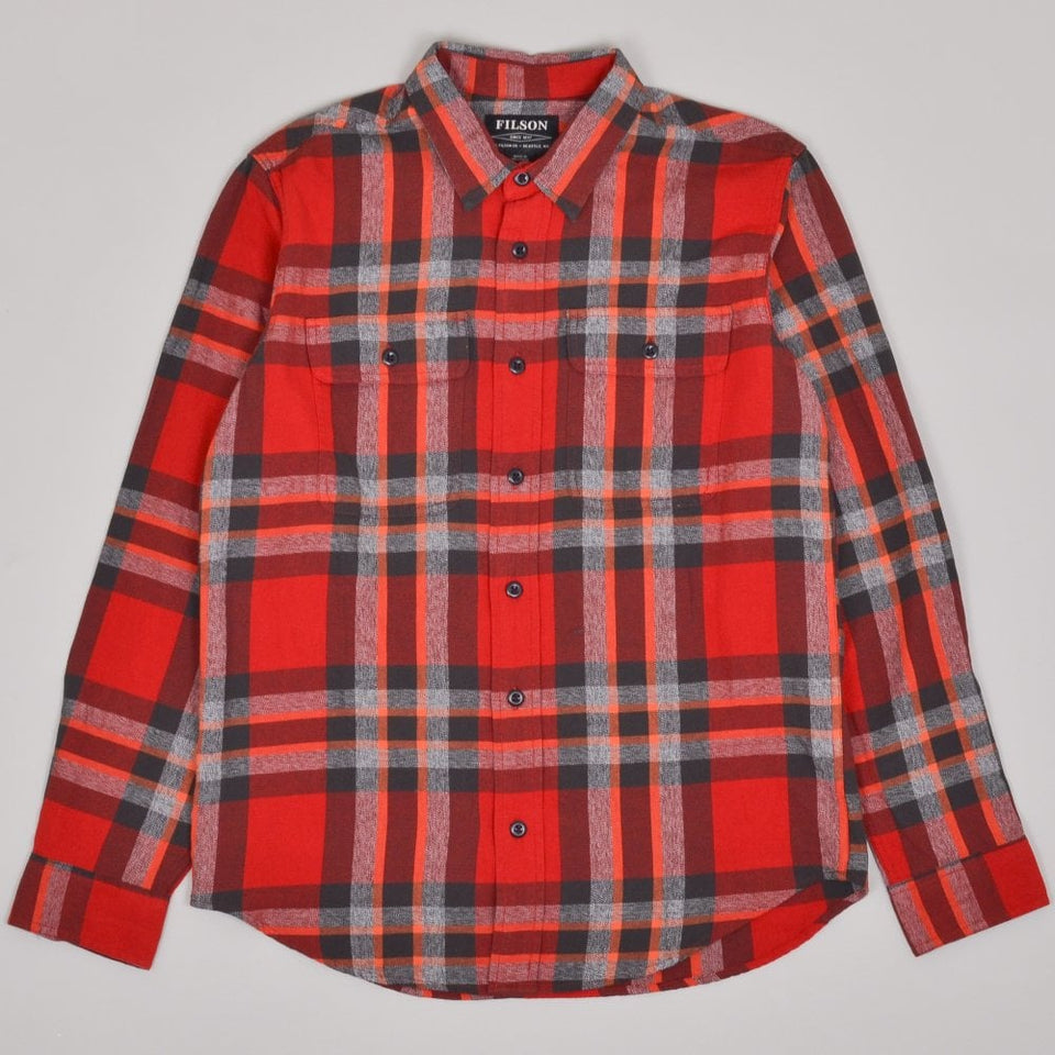 Filson Scout Shirt - Red / Black / Flame Plaid