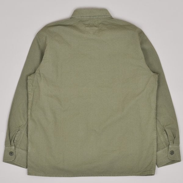 Edwin Big Shirt LS 6.5oz Ripstop Military Cotton - Green