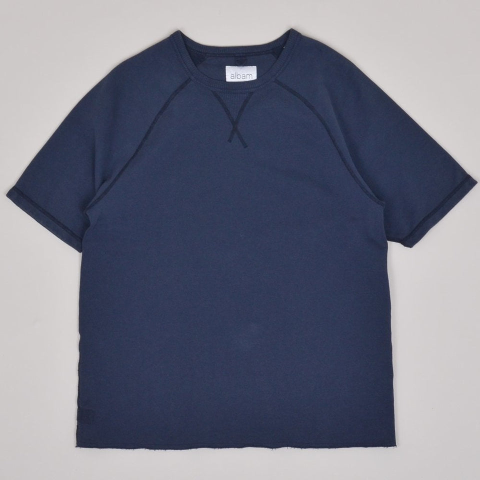 Albam Hemp Short Sleeve Sweatshirt - Navy