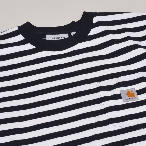 Carhartt WIP Scotty Stripe Pocket T-shirt - Dark Navy