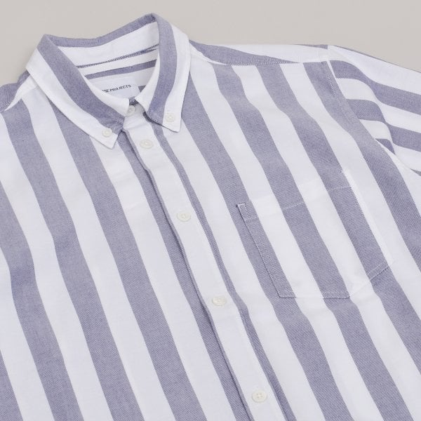 Norse Projects Theo Oxford - Navy Stripe