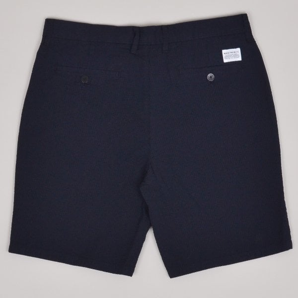 Norse Project Aros Seersucker Shorts - Dark Navy