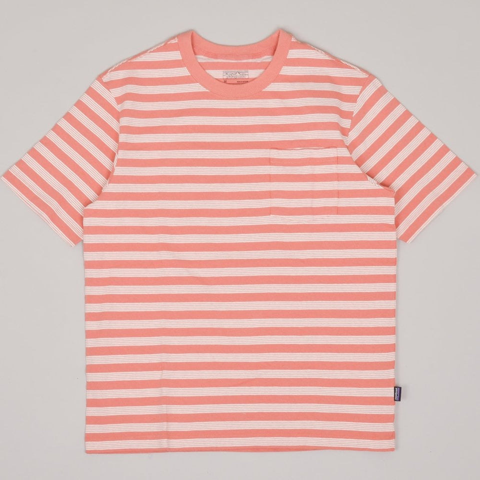 Patagonia Organic Cotton Pocket Tee - Carding / Mellow Melon