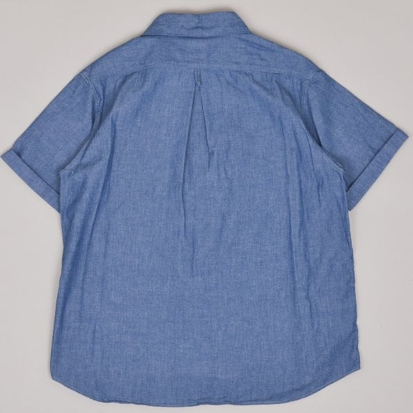 Danton Pullover Short Sleeved Shirt Chambray - Indigo