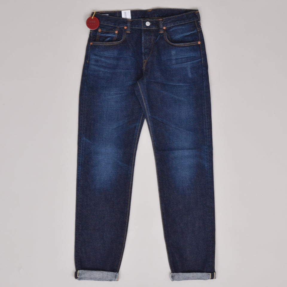 Edwin Made in Japan Nihon Mempu Regular Tapered - Dark Pure Indigo Blue