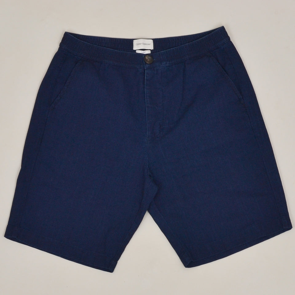 Oliver Spencer Drawstring Shorts - Indigo Rinse