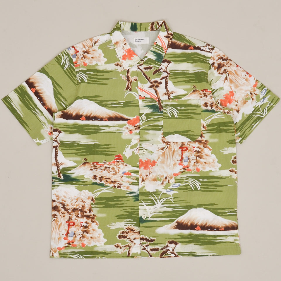 Universal Works Road Shirt Fuji Summer - Green