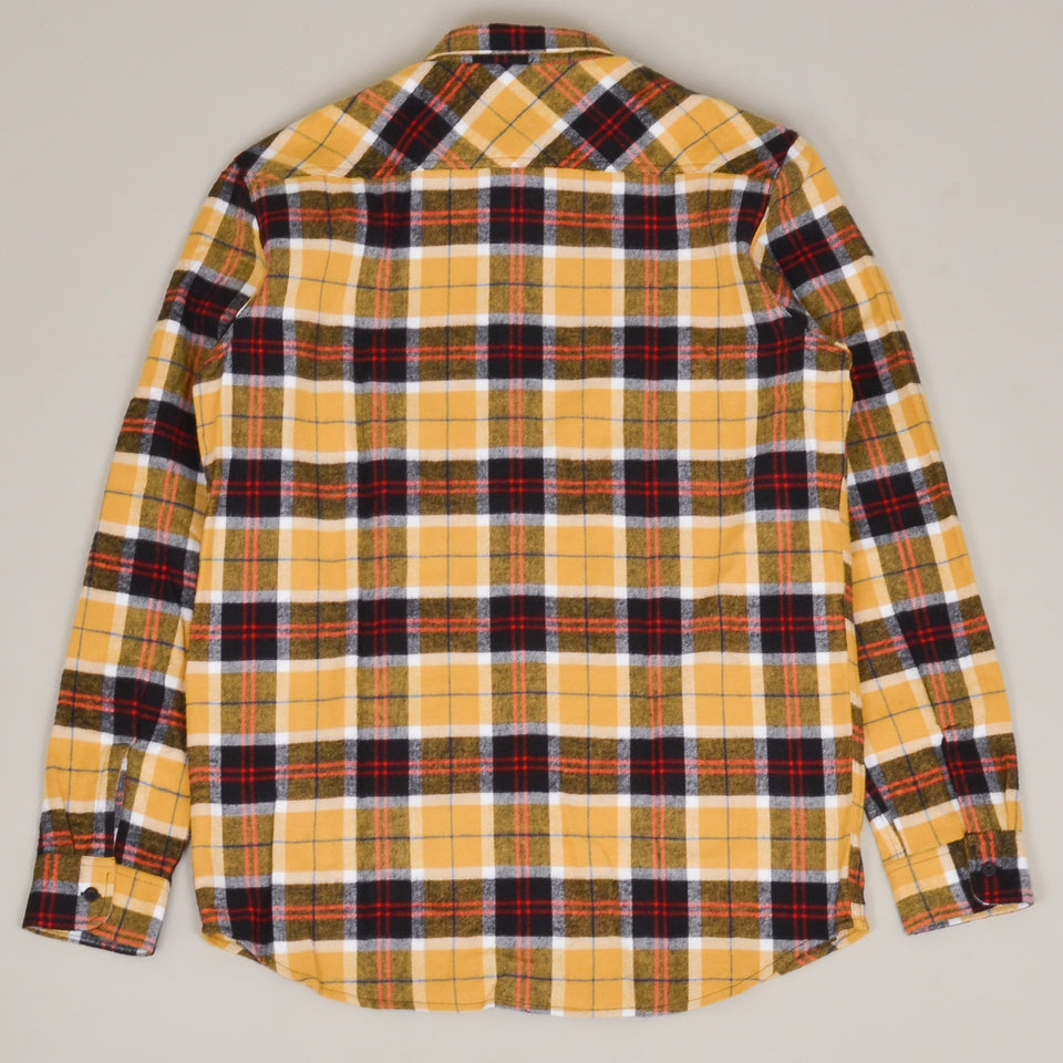 Edwin Labour Shirt Heavy Brushed Cotton Flannel Check - Yellow/Black