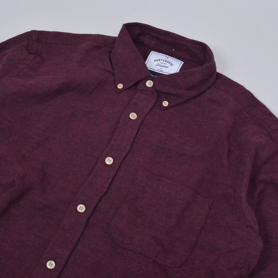 Portuguese Flannel Teca Shirt - Bordeaux