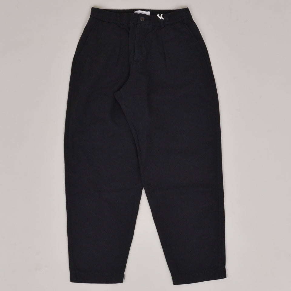 Universal Works Pleated Track Pant Canvas - Black