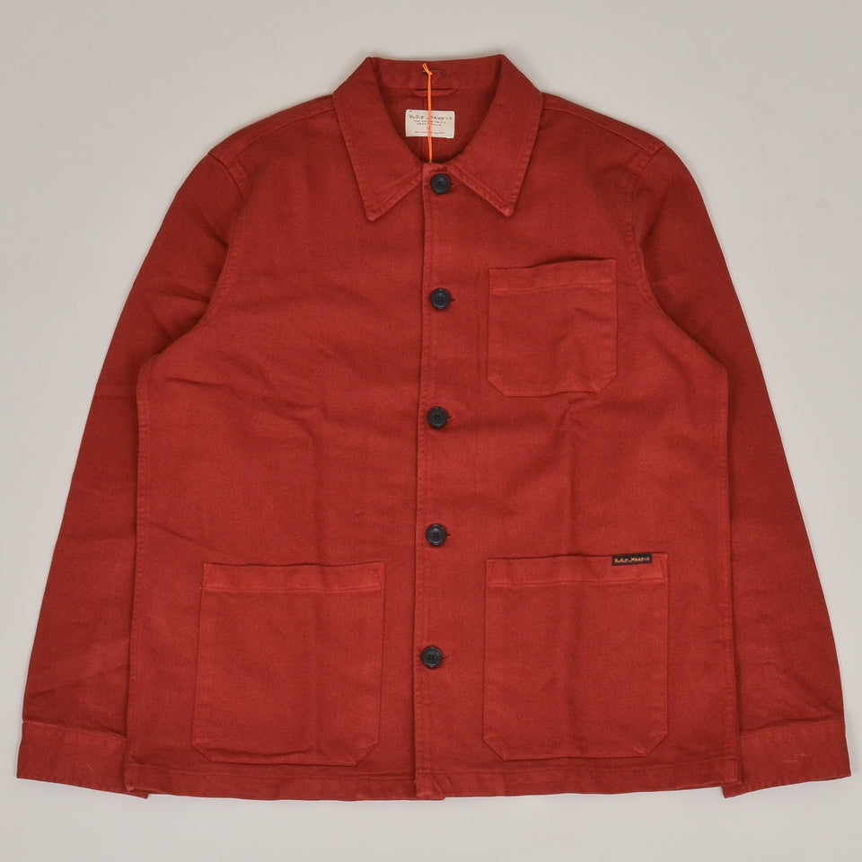 Nudie Jeans Barney Worker Jacket - Brick Red