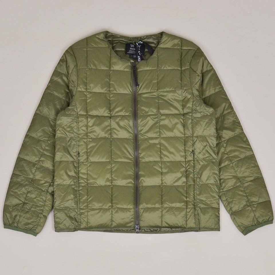 Taion - 005 Crew Neck Zip Down Jacket - Olive
