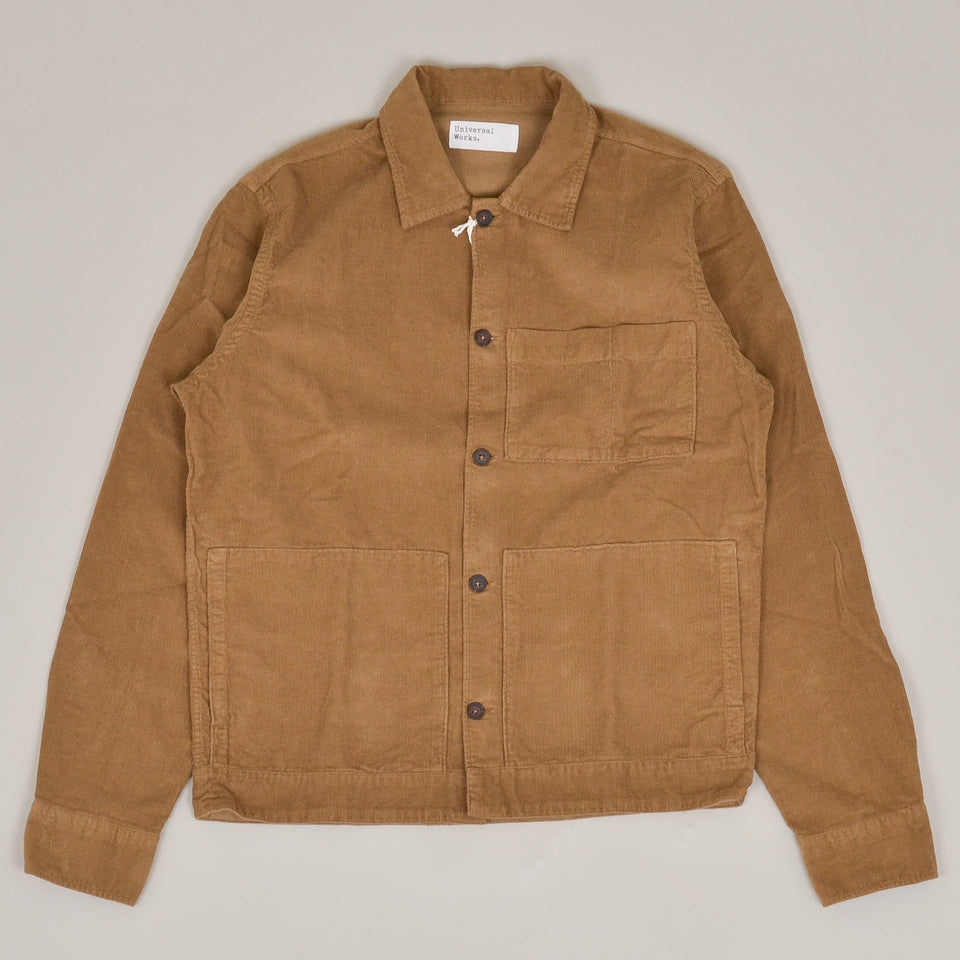 Universal Works Uniform Shirt Fine Cord - Taupe