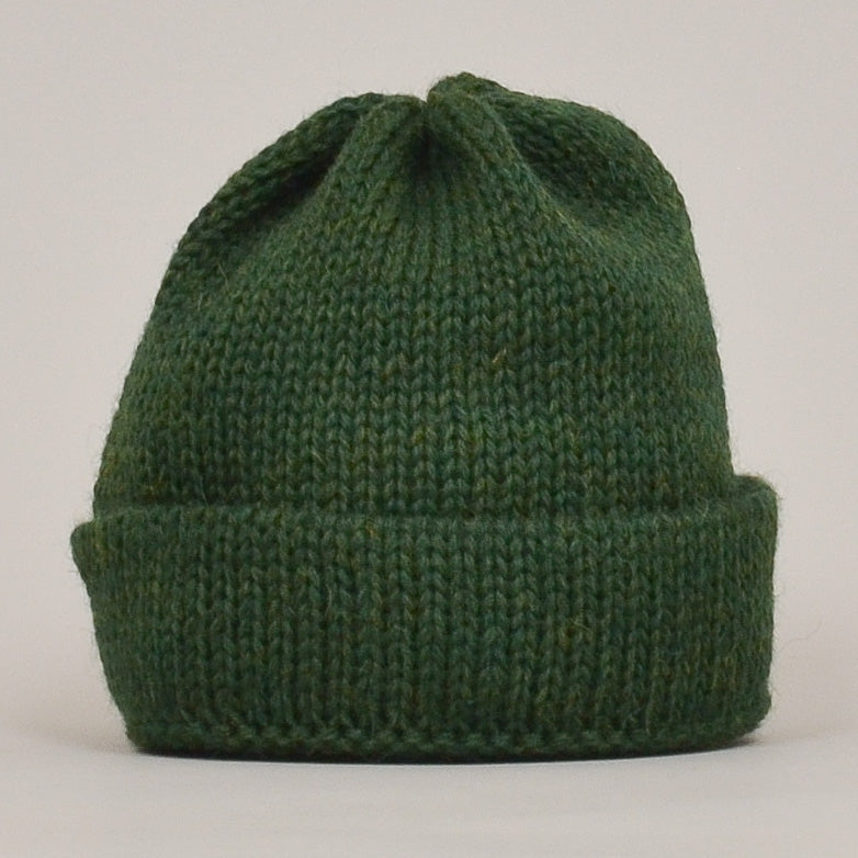 Universal Works Short Watch Cap British Wool - Green