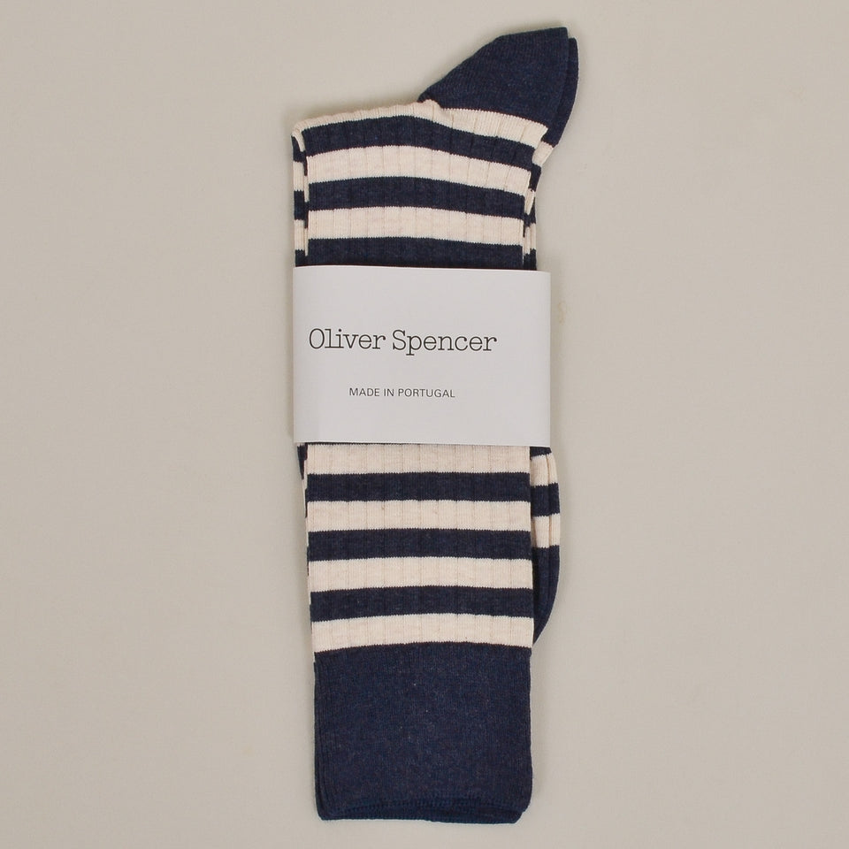 Oliver Spencer Miller Sock - Navy