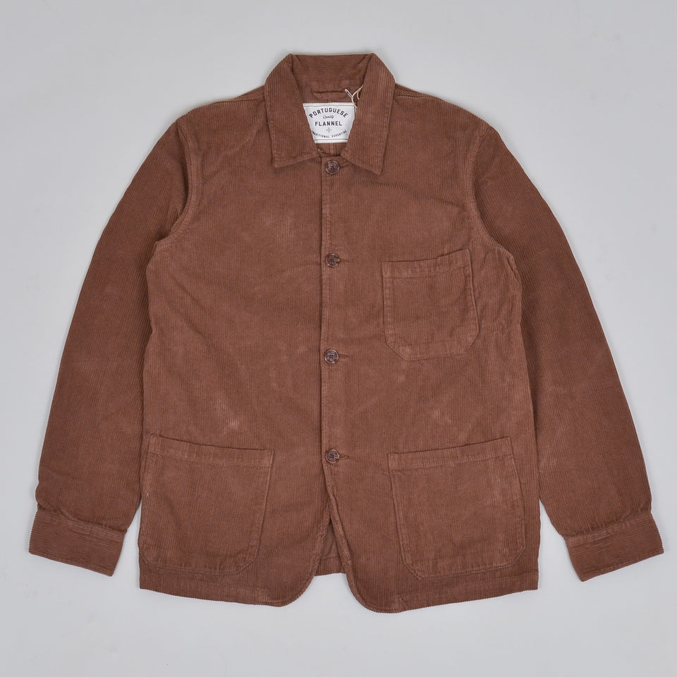 Portuguese Flannel Labura Corduroy Jacket - Brown