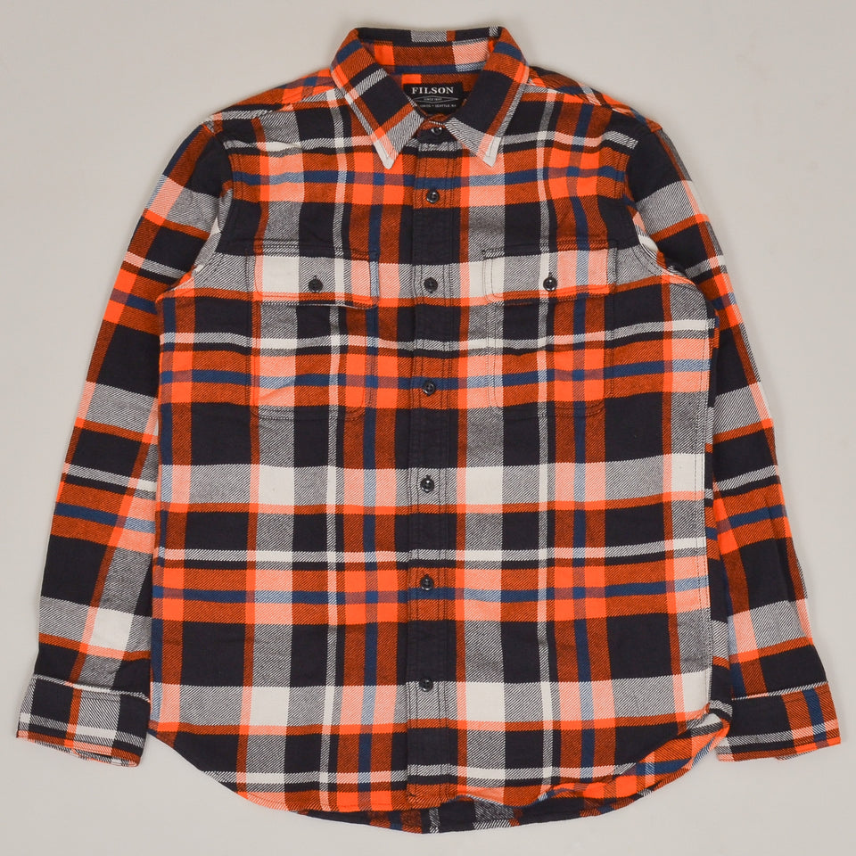 Filson Vintage Flannel Work Shirt - Red