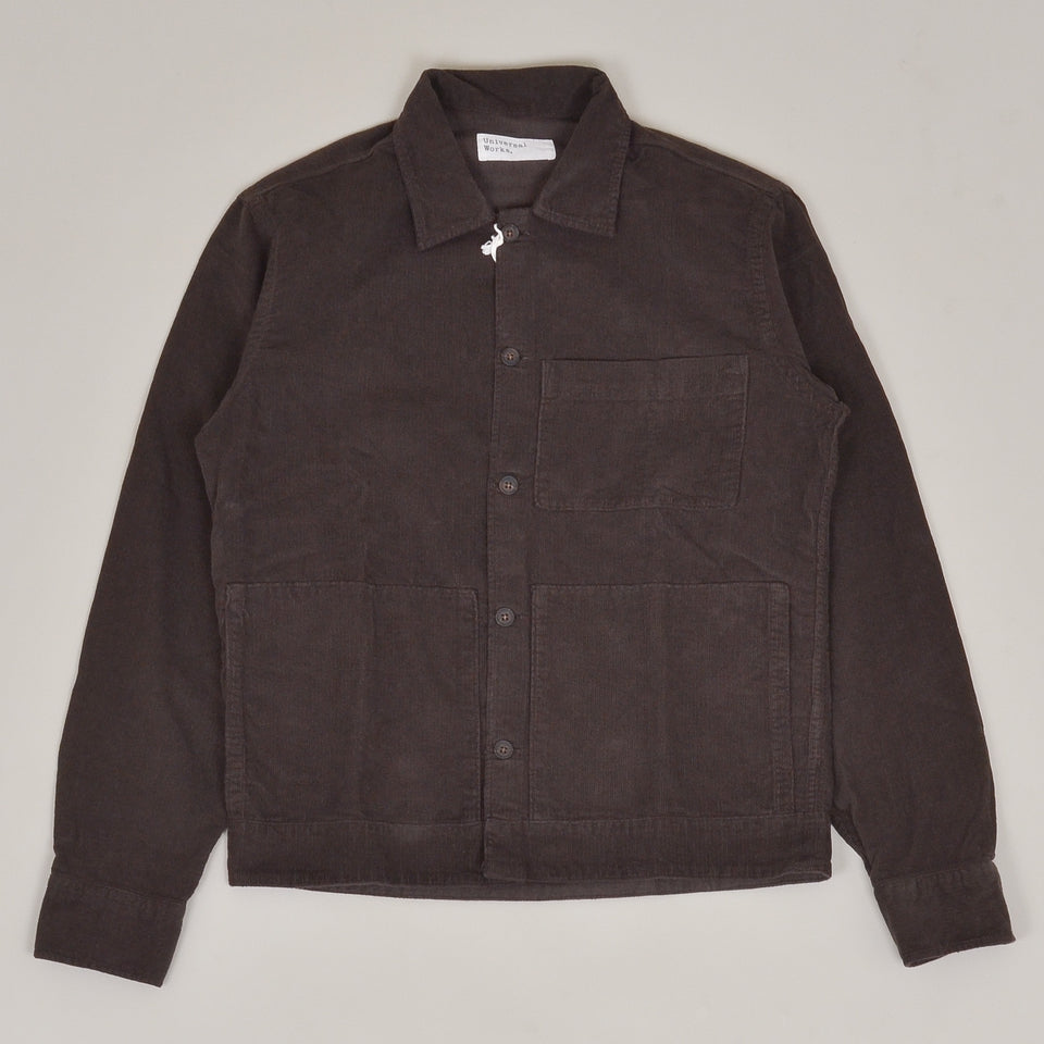 Universal Works Uniform Shirt Fine Cord - Chocolate