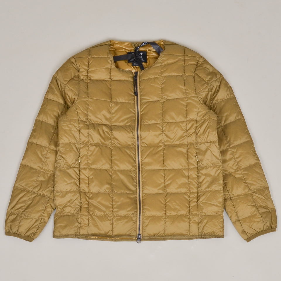 Taion - 005 Crew Neck Zip Down Jacket - Beige