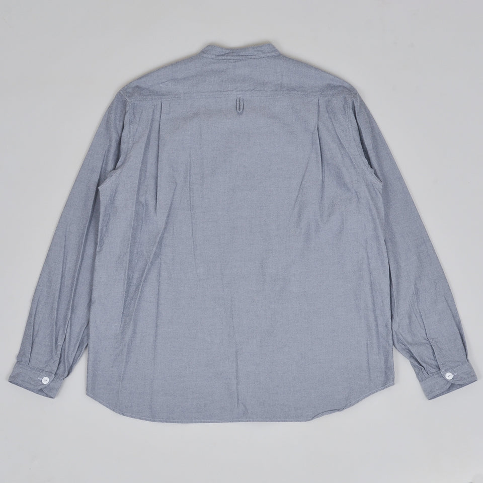 Danton Grandad Shirt JD-3607 - Grey Chambray