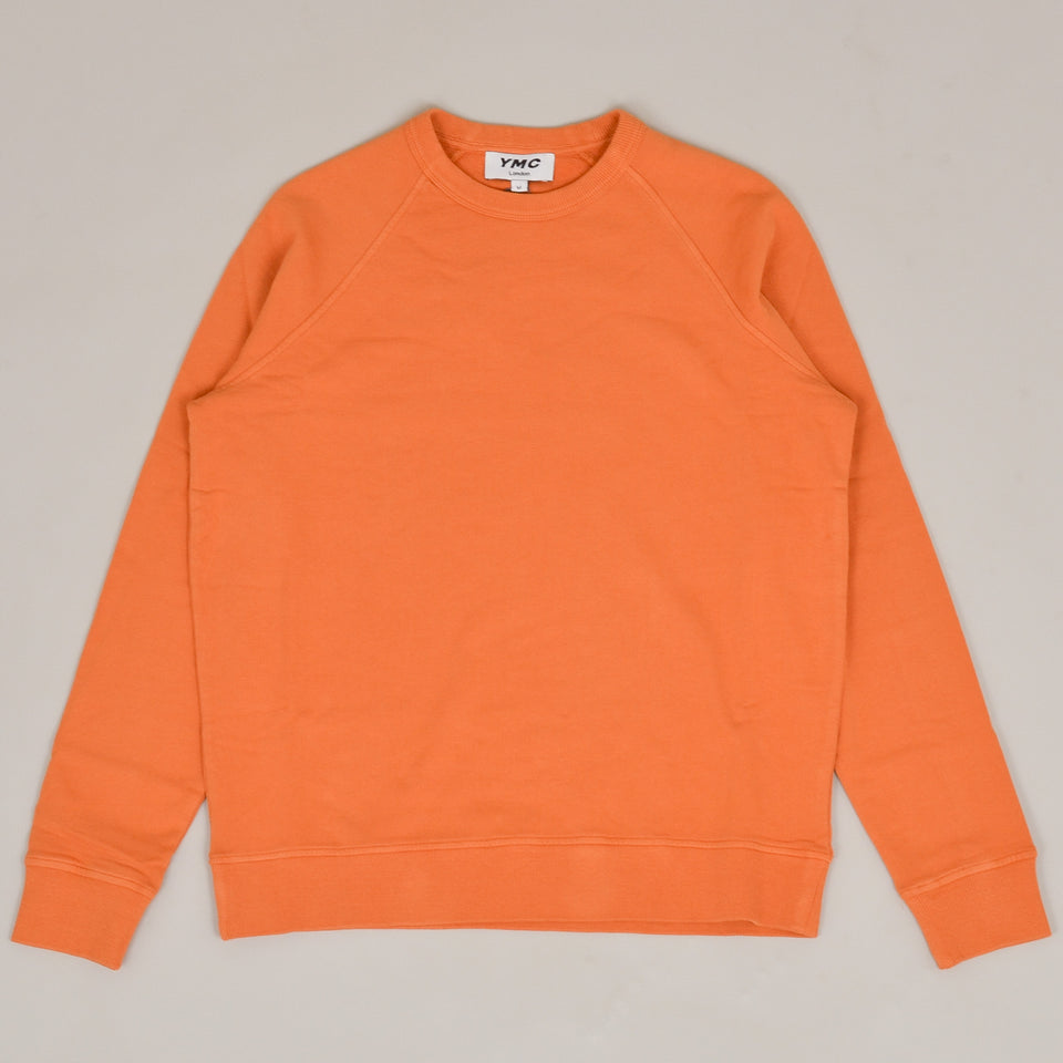 YMC Schrank Cotton Loopback Raglan Sweatshirt - Yellow