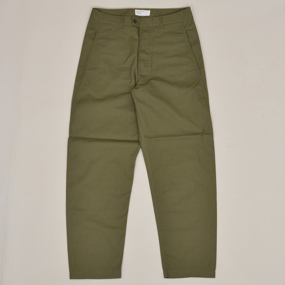 Universal Works Bakers Pant Fine Twill - Olive