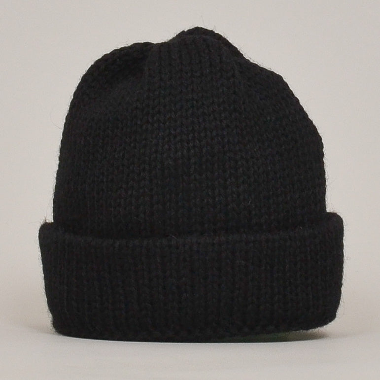 Universal Works Short Watch Cap British Wool - Black