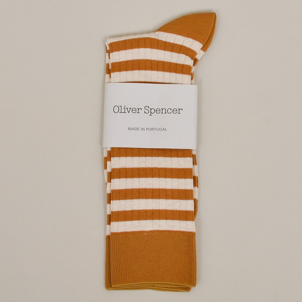 Oliver Spencer Miller Sock - Ochre