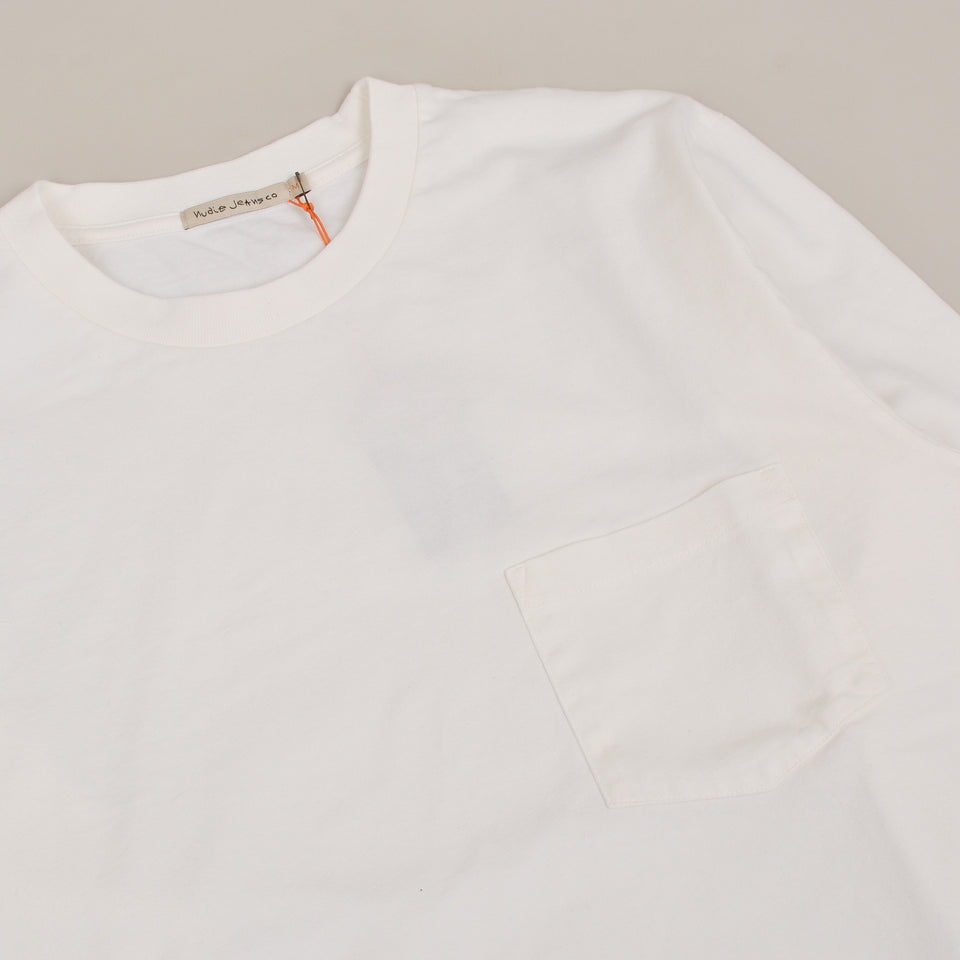 Nudie Jeans Rudi Heavy Pocket Tee - Chalk White