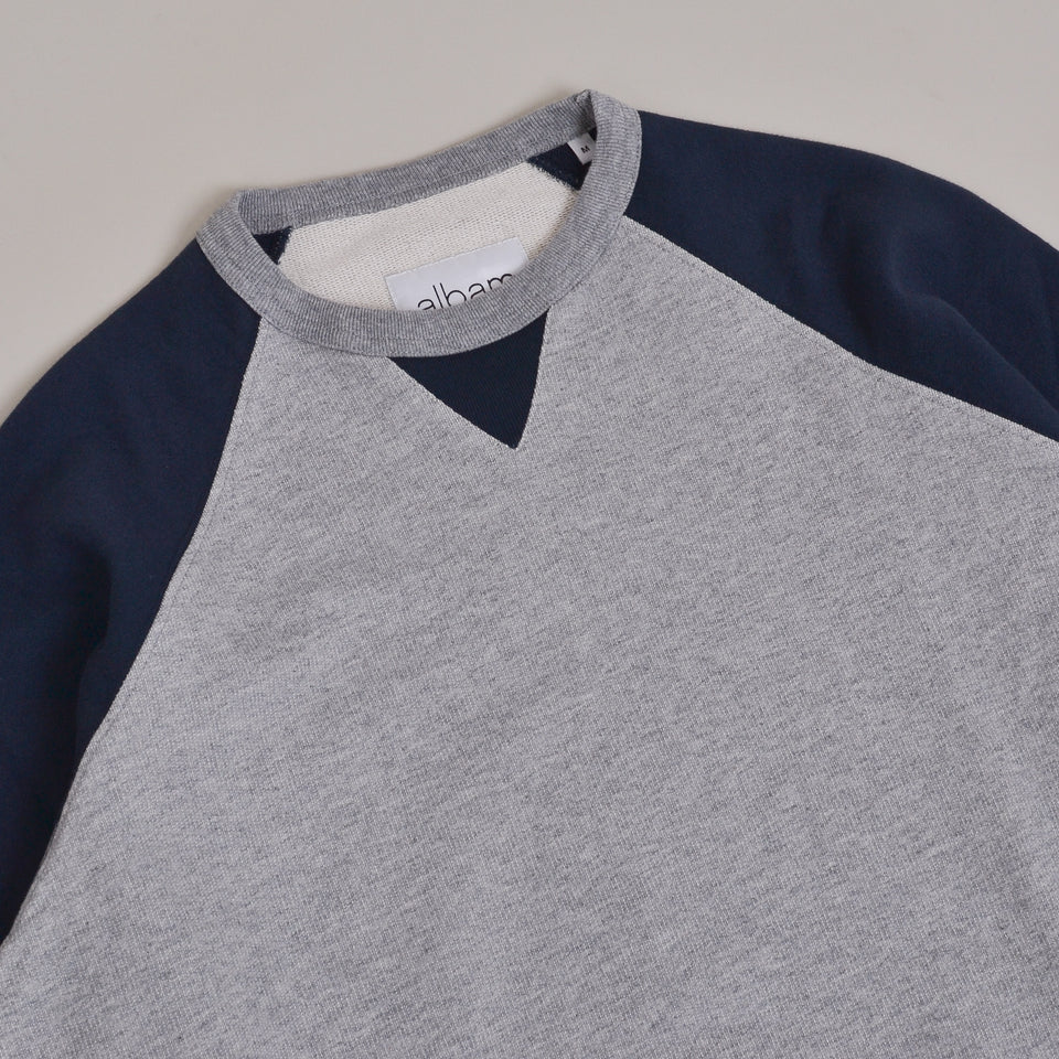 Albam Vintage Heavy Weight Sweatshirt - Navy/Grey Marl