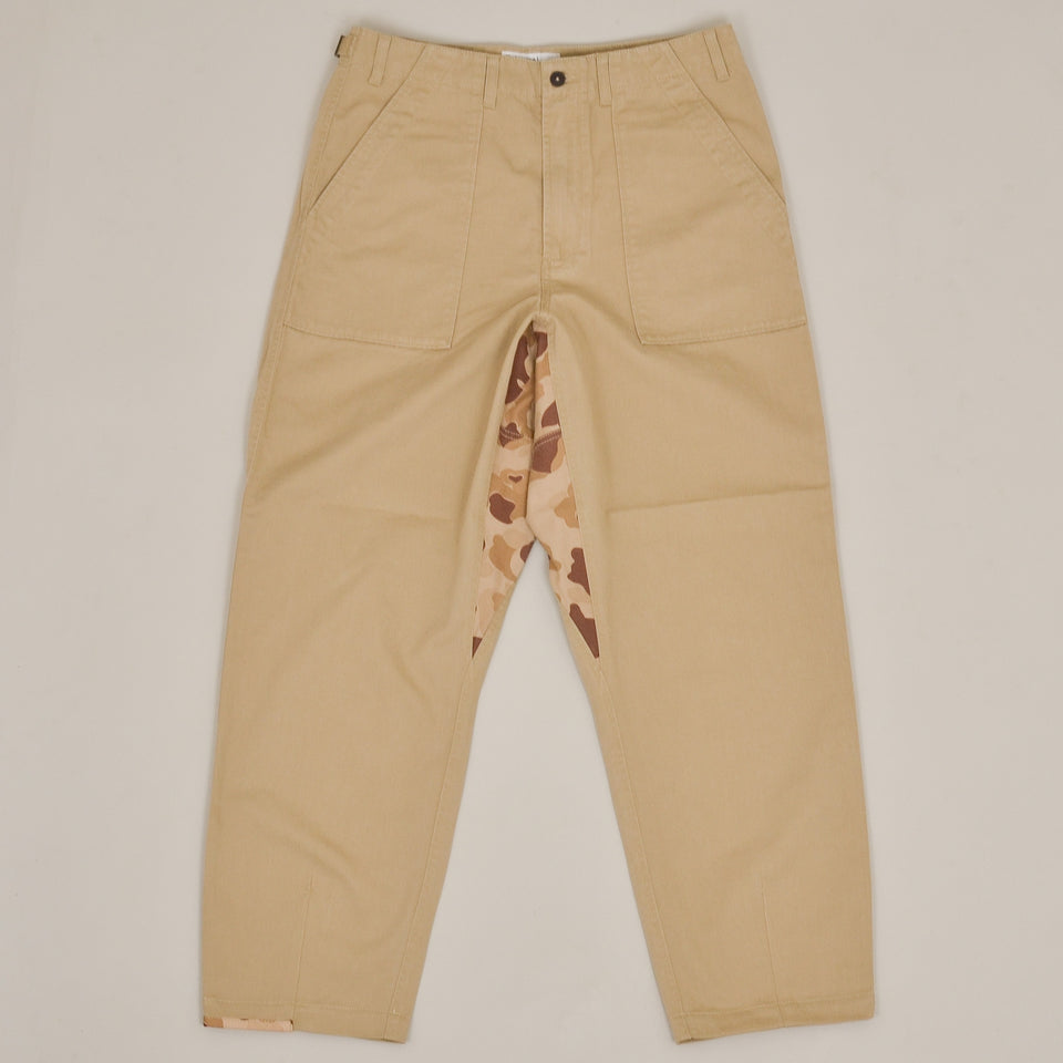 Universal Works Patched Mill Fatigue Pant - Tan